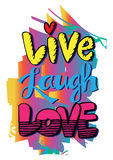 Live Laugh Love Stock Images