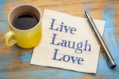 Live, laugh, love - napkin concept Royalty Free Stock Photos