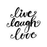 Live Laugh Love. Poster illustration vector illustration