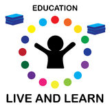 Live and learn. Education - illustration vector Royalty Free Stock Images