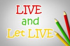 Live And Let Live Concept Foto de archivo libre de regalías