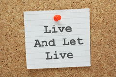 Live and Let Live Royalty Free Stock Photo