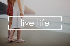 Live Life Alive Balance Enjoy Vital Harmony Home Concept Stock Photography