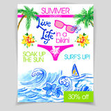 Live life in a bikini flyer Stock Photography