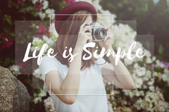 Live Life Hobby Photographer Lifestyle-Konzept Lizenzfreie Stockfotografie