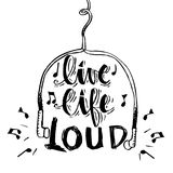 Live life loud Royalty Free Stock Photography