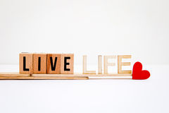 Live Life Love stockfotos