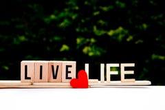 Live Life Love Imagen de archivo libre de regalías
