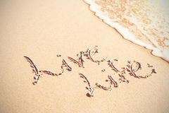 Live life written text on sand Royalty Free Stock Photo