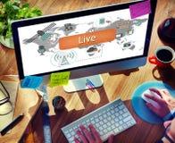 Live Lifestyle Balance Harmony Home Concept Stock Image