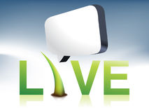 Live logo. Simple Illustration for logo with real meaning Royalty Free Stock Photo