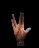 Live Long and Prosper. Stars  Some elements provided courtesy of NASA Royalty Free Stock Photography