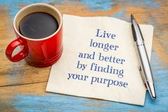 Live longer and better by finding your purpose Stock Photo