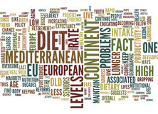 Live Longer With The Mediterranean Diet Text Background  Word Cloud Concept Stock Photo
