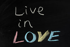 Live in love Royalty Free Stock Images