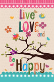 Live love and be happy design Royalty Free Stock Image