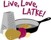 Live, Love, Latke Royalty Free Stock Photography