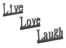 Live love Laugh. A sculpture of a very popular saying Royalty Free Stock Images