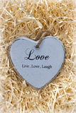 Live, love and laugh heart Stock Images