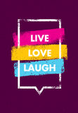Live, Love, Laugh. Inspiring Creative Motivation Quote. Vector Typography Banner Design Concept Royalty Free Stock Photos