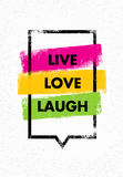 Live, Love, Laugh. Inspiring Creative Motivation Quote. Vector Typography Banner Design Concept Stock Photo
