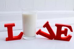 Live for the love of milk Royalty Free Stock Photography