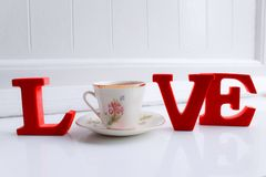 Live for the love of tea stock photo