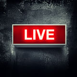 Live message. Live warning board message is lit on Royalty Free Illustration