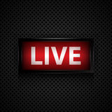 Live message studio sign royalty free illustration