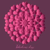 Happy valentines day, vector card stock illustration