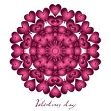 Happy valentines day, vector card vector illustration