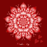 Happy valentines day, vector card royalty free illustration