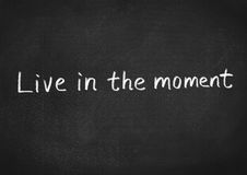 Live in the moment Stock Photo
