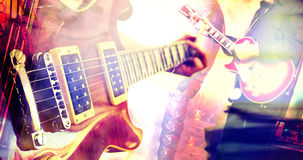 Live music background. Guitar design composition Stock Images