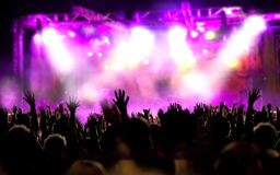 Live music background. Show and public Royalty Free Stock Photo