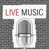 Live Music Banner Stockbilder
