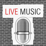 Live Music Banner. Vector eps10 illustration Stock Images