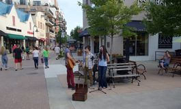 Live Music at the Branson Landing in downtown Missouri Royalty Free Stock Images