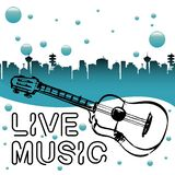 Live music concept Vector Illustration