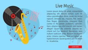 Live Music Conceptual Banner illustration de vecteur