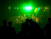 Live music concert. Audience at live music concert Stock Photo