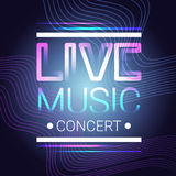 Live Music Concert Banner Colorful Style Modern Musical Poster Stock Images
