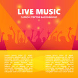 Live music concert bsckground. Crowd on the festival. Vector illustration.  Stock Images