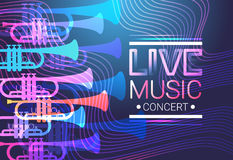 Live Music Concert Poster Festival Banner. Vector Illustration Royalty Free Stock Image