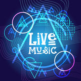 Live Music Concert Poster Festival Banner. Vector Illustration Royalty Free Stock Photo