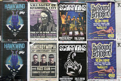 Live music concert posters Stock Image