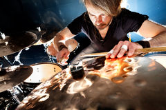 Live music and drummer.Music instrument Royalty Free Stock Photo