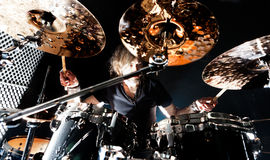 Live music and drummer.Music instrument Stock Images