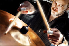 Live music and drummer.Music instrument Royalty Free Stock Photos