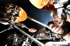 Live music and drummer.Music instrument Stock Photography